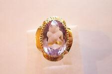 Wunderschöner sehr eleganter antiker Ring Gold 585 geschliffener Amethyst