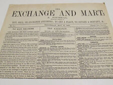 THE EXCHANGE AND MART NO. 1 FACSIMILE/reproduction/buying/selling/Victorian/1868