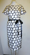 Beautiful Fully Lined Cream & Black Spotty Dress by Jaques Vert Size 8 - BNWT!!