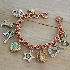NEW SWEET ROMANCE SOUTHWESTERN TRADING POST CHARM BRACELET ~ HORSE, HEARTS& MORE