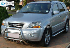 KIA SORENTO BULL BAR CHROME AXLE NUDGE A-BAR 60mm 2003-2009 STAINLESS STEEL NEW