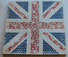 5 Sheets of 12x12 Scrapbooking Paper * Union Jack on Flowers Design