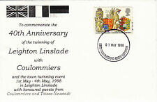 (26660) GB Cover Leighton Linslade Coulommiers Twinning - Leighton Buzzard 1988