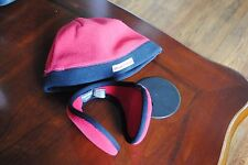 Boys size S/M Red Black Fleece Old Navy Beanie Hat & FREE Country Ear Wraps warm