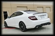 Mercedes C-Class W204 Coupe AMG Look Rear Boot Lip Spoiler ~PRIMED & PREPARED~