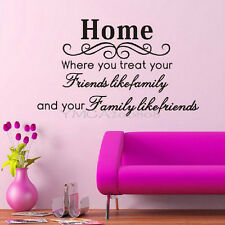 Hot Home Friends Family Wall Art Sticker For Living Room Hallway Kitchen Decor