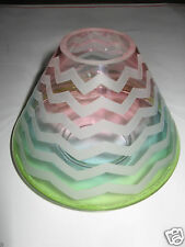 Yankee Candle PASTEL CHEVRON Jar Candle Shade Topper EASTER SPRING Rare & HTF!