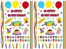 Mrs Grossman's HAPPY BIRTHDAY Scrapbook Stickers Candle Number Confetti 2 Sheets