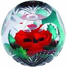 Caithness Glass WW1 Always Remember poppy paperweight Limited Edition 20 of 250