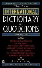 New International Dictionary of Quotations, 3rd Edition by , Good Book