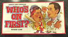 Vintage 1979 Abbott and Costello WHO'S ON FIRST board game Selchow Righter