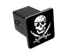 Pirate Skull Crossed Swords - Tow Trailer Hitch Cover Plug Truck