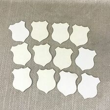 12 Antique Victorian Die Cut Shield Card Shape Table Place Setting Tag White