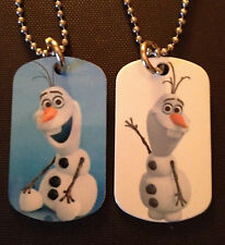 Frozen Olaf 2-Sided Color Photo Dog Tag Necklace / Key chain FREE SHIPPING!!!!
