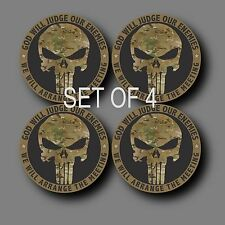 "Set of 4 Laminated Punisher Multicam 2"" Phone Yeti Decal Sticker"