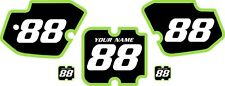 1988 Kawasaki KX500 Custom Pre-Printed Black Backgrounds with Green Bold Pin