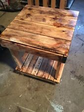 Reclaimed Pallet Wood End Table Night Stand