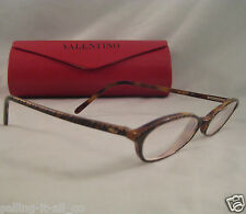 Vintage VALENTINO Rx Eyeglasses Animal Print Brown Plastic Frame Eye Glass V5305