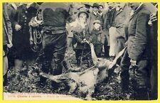 cpa 60 - FORÊT de CHANTILLY Chasse à Courre Jagen hert La CURÉE Cerf Deer
