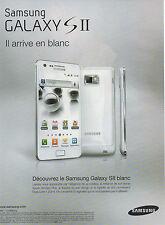 Publicité 2011  ///   SAMSUNG  GALAXY  S II  ...  arrive en blanc
