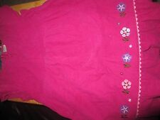 VGUC Gymboree Pretty in Plum Pink Flower Corduroy Dress Girls Size 6 VHTF!