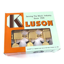 Kluson Gold 3x3 Waffleback/Tulip Tuners for Vintage Gibson® Guitar SK900SLG/M