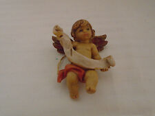 Vintage Fontanni Hand Painted Putti Angel Cherub Christmas Ornament