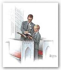 RELIGIOUS ART PRINT In His Spirit Norman Rockwell