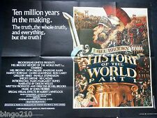 HISTORY OF THE WORLD PART 1  ORIGINAL 1981 QUAD POSTER MEL BROOKS MADELINE KAHN