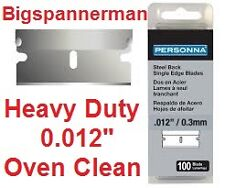 "100 PERSONNA SINGLE EDGE RAZOR SCRAPER BLADES 0.012"" - Best for oven cleaning -"