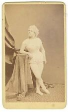 *AMAZING 1868 SCANTILY DRESSED ACTRESS CDV LYDIA THOMPSON'S BRITISH BLONDES?*