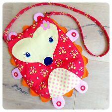 Wildflower Meadow Hedgehog Bag Purse Panel Red ~ Melly & Me Riley Blake Designs