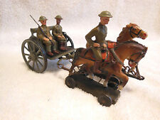 LINEOL Toy Soldiers & Weapons Carrier-WW I US Army-Made in Germany-Very Good