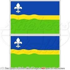 FLEVOLAND Provincia Bandiera Olanda Olandese Adesivi in Vinile 100mm Stickers x2