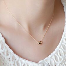 Tiny Elegant  Small Gold Love Heart Cute Short Necklace Present Great Gift Good