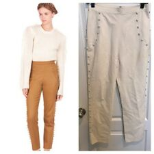 Rodarte for Opening Ceremony Straight-Leg Button Pants Ivory Sz.S