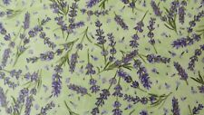 Complimentary colors Springtime Lavender Fabric cotton quilting Lavender Flowers