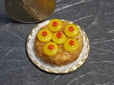 Dollhouse Miniature Pineapple Upsidedown Cake F 1:12 scale F20A Dollys Gallery