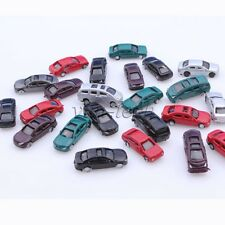 100pcs Scale 1:200 Gauge Z Painted Plastic Model Car for Building Train Layout