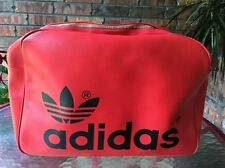 Vintage Retro Adidas 60s 70s Gym / Carry-on Bag Orange Black