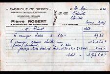 """LE BOUGAZEAU prés EGUZON (36) USINE de SIEGES / CANNAGE """"Pierre ROBERT"""" en 1950"""