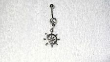 Boat Nautical Steering Wheel Belly Button Navel Ring Body Jewelry Piercing