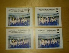 Malaysia 1992 Piala Juara Thomas Cup Champion MNH MS STAMP light Toned