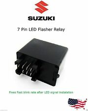 7 Pin Suzuki Flasher Relay Fast  No Flash Bike LED Turn Signal Load GSX Vstorm C