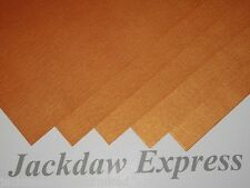 15 x A5 1-Sided Orange Pearlescent Shimmer Linen Embossed Paper 110gsm AM346