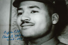 Tuskegee Airman WWII Col. Charles McGee 409 combat missions SIGNED 4x6 PHOTO
