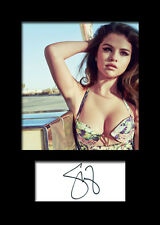 SELENA GOMEZ #1 Signed Photo Print A5 Mounted Photo Print - FREE DELIVERY