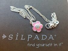 NIB Silpada Poppies and Petunias Necklace CZ STL N2407 Children's Collection