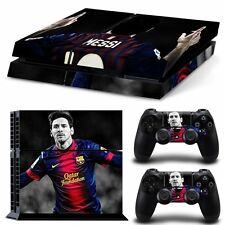 PS4 Skin & Controllers Skin Vinyl Sticker For PlayStation 4 Messi Barcelona