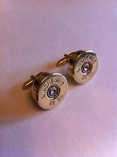 Winchester shotgun shell cartridge cap cufflinks clay and game shooting wedding